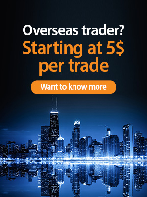 Overseas trader? Starting at 5 $ per trade. contact us